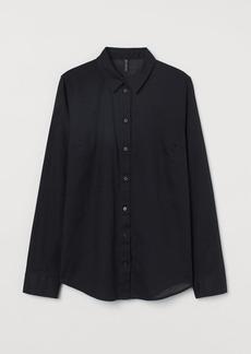 H&M H & M - Cotton Shirt - Black