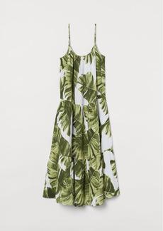 H&M H & M - Crinkled Cotton Dress - White