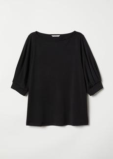 H&M H & M - Crêped Jersey Top - Black