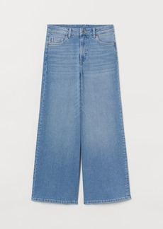 H&M H & M - Culotte High Ankle Jeans - Blue