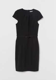 H&M H & M - Dress with Belt - Black
