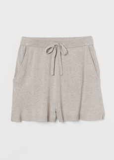 H&M H & M - Fine-knit Shorts - Brown