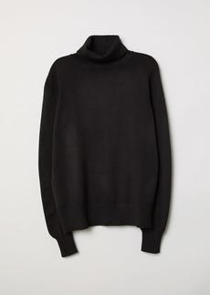 H&M H & M - Fine-knit Turtleneck Sweater - Black