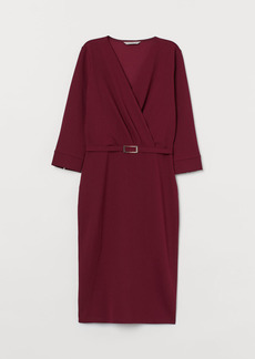 H&M H & M - Fitted Jersey Dress - Red