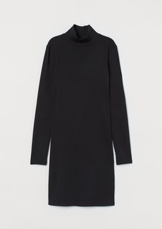 H&M H & M - Fitted Ribbed Dress - Black
