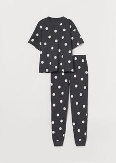 H&M H & M - Jersey Pajamas - Black