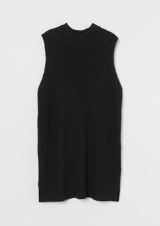 H&M H & M - Knit Sweater Vest Dress - Black