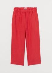 H&M H & M - Linen Culottes - Red