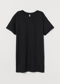 H&M H & M - Long T-shirt - Black