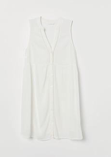 H&M H & M - MAMA Button-front Tunic - White
