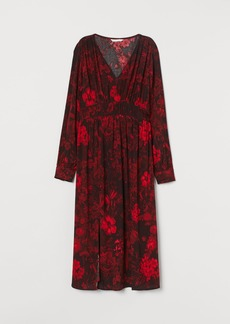 H&M H & M - MAMA Crêped Dress - Red