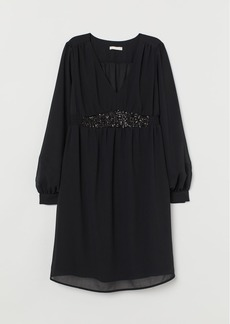 H&M H & M - MAMA Dress with Sequins - Black