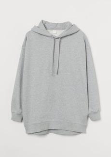 H&M H & M - Oversized Cotton Hoodie - Gray