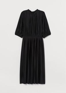 H&M H & M - Pleated Dress - Black