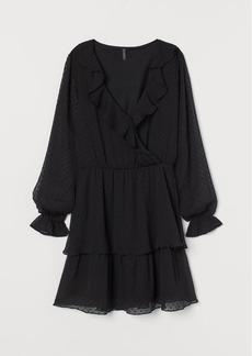 H&M H & M - Plumeti Chiffon Dress - Black