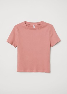 H&M H & M - Rib-knit Top - Pink