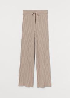 H&M H & M - Ribbed Cashmere-blend Pants - Pink
