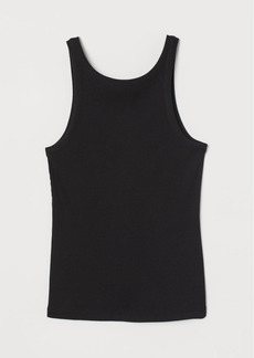 H&M H & M - Ribbed Tank Top - Black