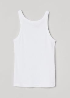H&M H & M - Ribbed Tank Top - White