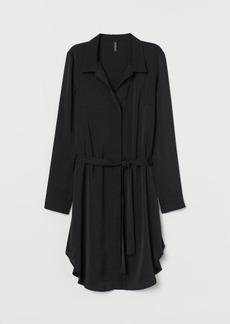 H&M H & M - Short Shirt Dress - Black