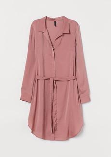 H&M H & M - Short Shirt Dress - Pink