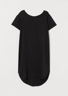H&M H & M - Short T-shirt Dress - Black