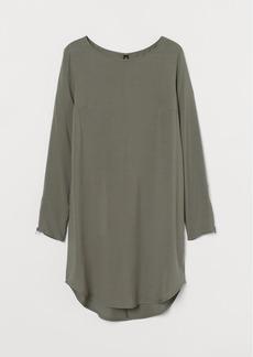 H&M H & M - Short Viscose Dress - Green