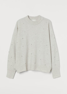 H&M H & M - Studded Sweater - Brown