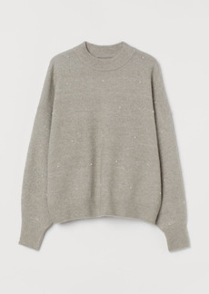 H&M H & M - Studded Sweater - Gray