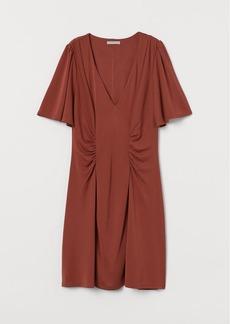 H&M H & M - V-neck Dress - Orange
