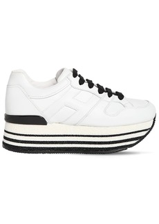 Hogan 40mm H501 Leather Platform Sneakers