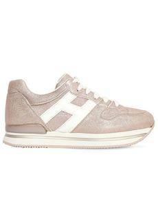 Hogan 45mm H222 Lamè Leather Sneakers