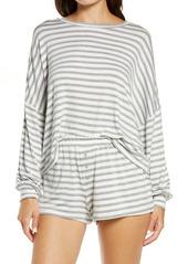 Honeydew Intimates All American Long Sleeve Shortie Pajamas