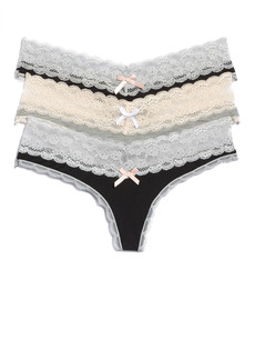 Women's Honeydew Intimates 3-Pack Lace Thong