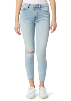Hudson Jeans Barbara High Waist Ripped Crop Super Skinny Jeans (Baby Face)