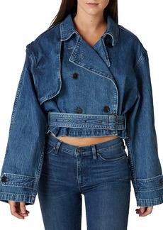 Hudson Jeans Cropped Denim Trench Coat