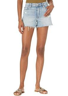 Hudson Jeans Croxley High-Rise Shorts in Destructed Moving On