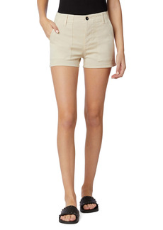 Hudson Jeans Military High Waist Cotton Blend Shorts