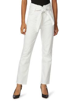 Hudson Jeans Remi Belted Paperbag Waist Ankle Straight Leg Jeans