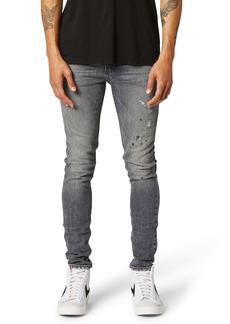 Hudson Jeans Zack Distressed Skinny Fit Jeans (Vista Grey)