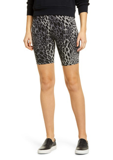 Hue Animal Print Stretch Cotton Bike Shorts
