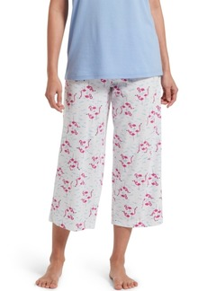Hue Cotton Temp Tech Flamingo-Print Capri Pajama Pants