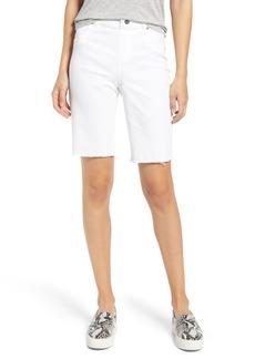 Hue High Waist Bermuda Denim Shorts