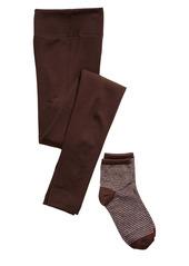 Hue Ribbed Leggings & Metallic Socks Gift Set