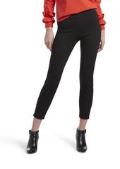 HUE Women's Plus Size Loafer Skimmer Legging Assorted classic/black pinstripe
