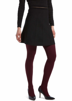 HUE Women's Temp Tech Cable Rib Tights  S/M