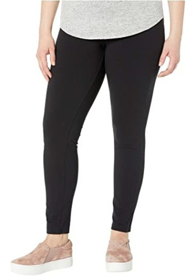 Hue Plus Size Wide Waistband Blackout Cotton Leggings