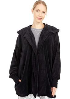 Hue Solid Fuzzy Hooded PJ Robe
