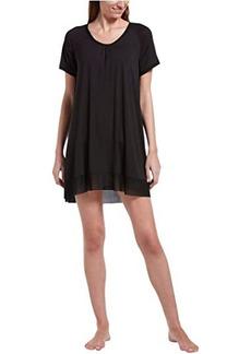 Hue Solid Short Sleeve Sleep Gown with Temp Tech