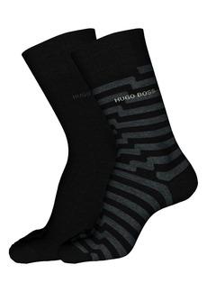 Hugo Boss BOSS 2-Pack Assorted Crew Socks